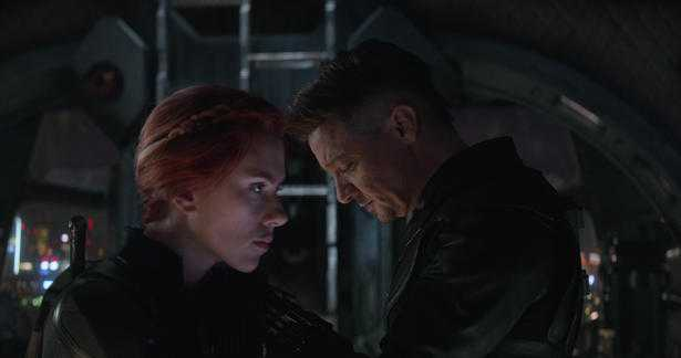 Endgame, Black Widow and Hawkeye
