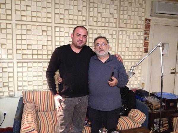 Αντώνης Κατσαμάς με τον Θάνο Μικρούτσικο
