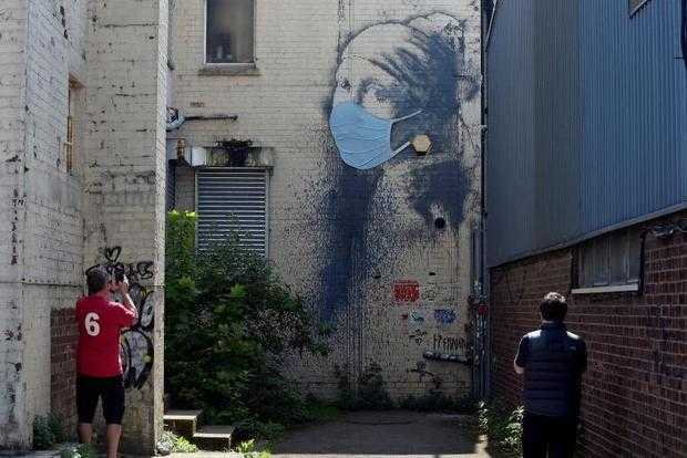 Banksy - The Girl with the Pierced Eardrum, Bristol, Britain, April 23, 2020